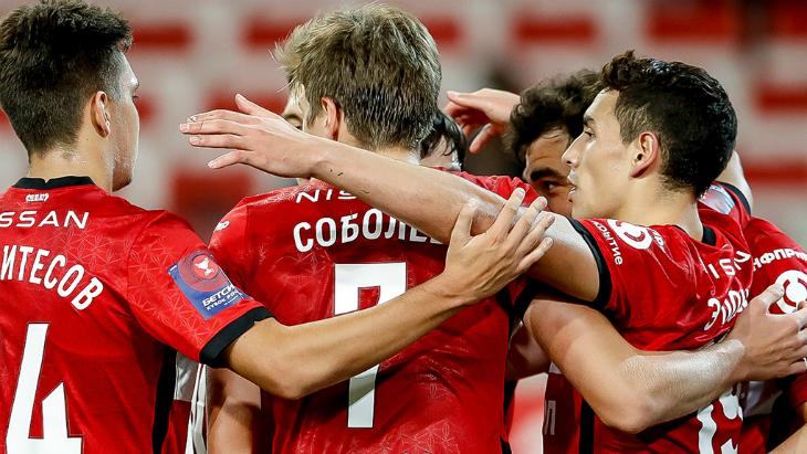 Дебютный гол Урунова помог «Спартаку» разгромить «Родину» в Кубке России