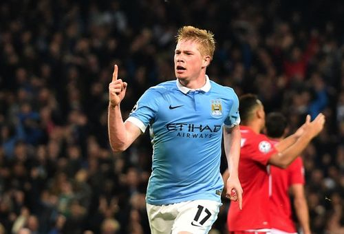 Кевин де Брейне забивает гол за «Манчестер Сити»