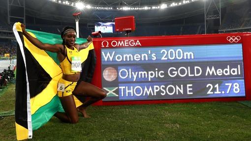 Элейн Томпсон изЯмайки завоевала золото Олимпиады вбеге на200м