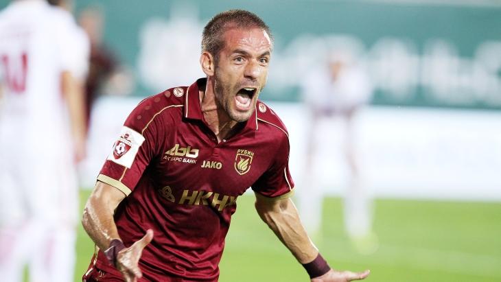 Футболисты «Анжи» одержали волевую победу над «Рубином» вматчеЧР