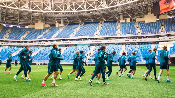 Футболисты «Зенита» на «Крестовском»